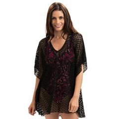 Women's Dolfin Aquashape Eyelet Poncho Cover-Up