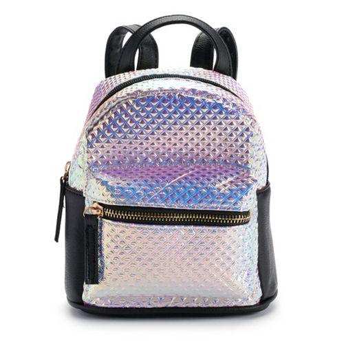 Textured Hologram Mini Backpack