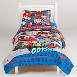 Super Mario Odyssey Caps Off Twin Full Comforter