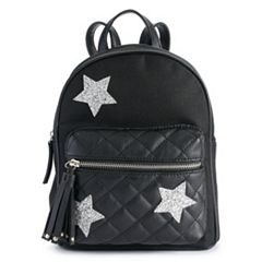 Glittery Star Quilted Mini Backpack
