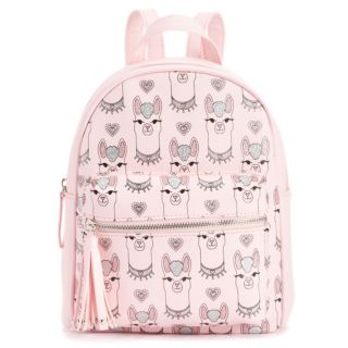 Glitter Llama Mini Backpack