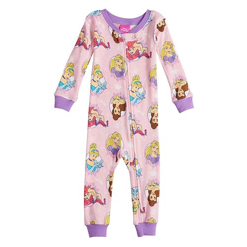 Disney Princess Baby Girl Footless Pajamas