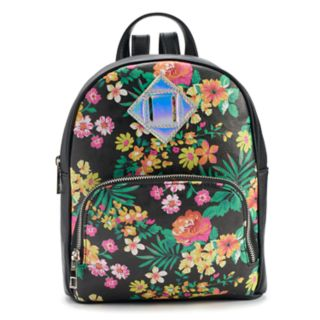 Floral Iridescent Mini Backpack