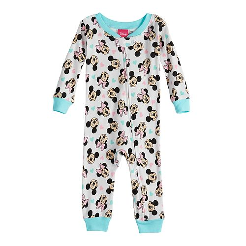 0d55bbf7baac Disney s Minnie Mouse Baby Girl Footless Pajamas