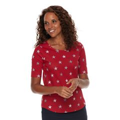 Women's Croft & Barrow® Essential Elbow Sleeve Tee