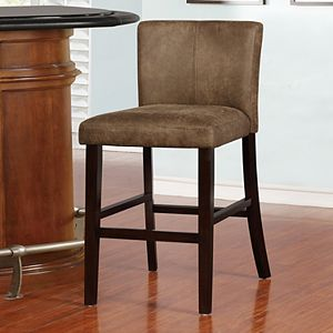Linon Miller Distressed Faux-Leather Bar Stool