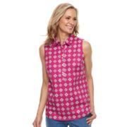 Women's Croft & Barrow® Wrinkle-Resistant Sleeveless Shirt