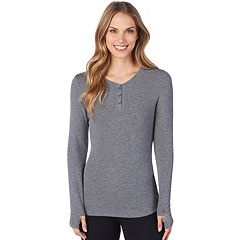 Women's Cuddl Duds Softwear Stretch Henley