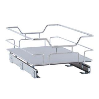 Household Essentials Glidez Nonslip 1-Tier 14.5-inch Wide Sliding Under Cabinet Organizer