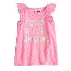 Toddler Girl Jumping Beans® Graphic Ruffled Tank Top