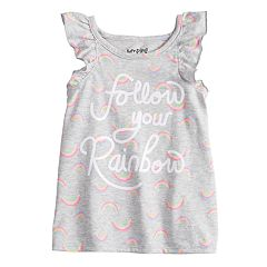 Toddler Girl Jumping Beans® Graphic Ruffled Tank Top
