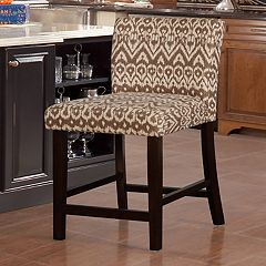 Linon Ikat Coconut Counter Stool