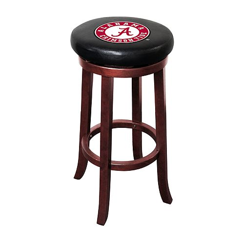 Alabama Crimson Tide Wooden Bar Stool