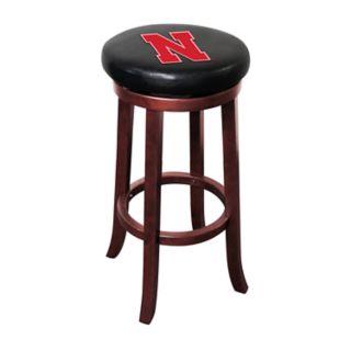 Nebraska Cornhuskers Wooden Bar Stool