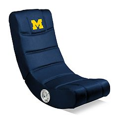 Michigan Wolverines Video Game Chair with Bluetooth
