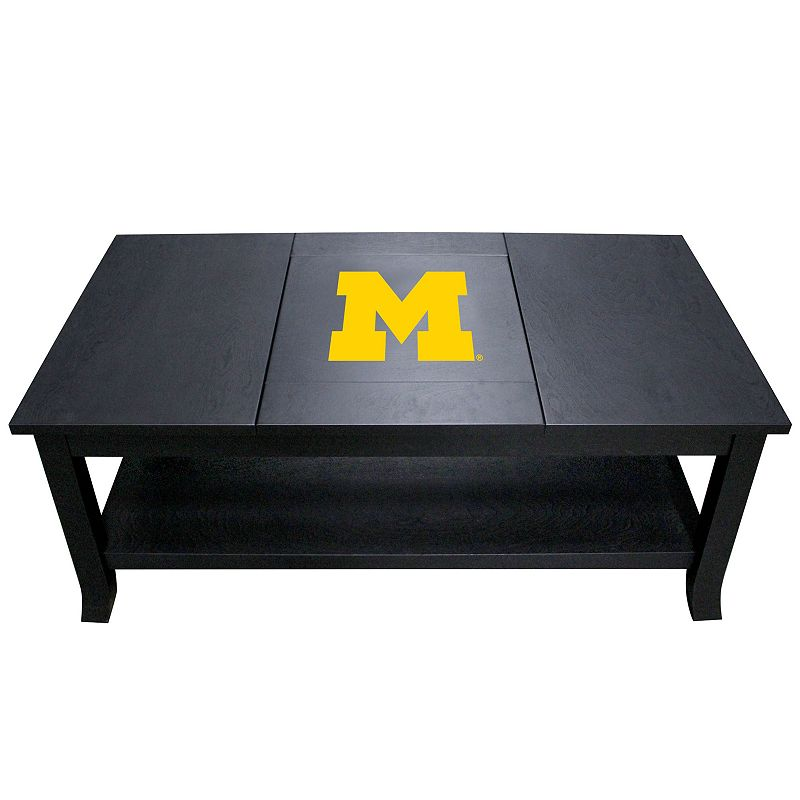 Michigan Wolverines Coffee Table, Black