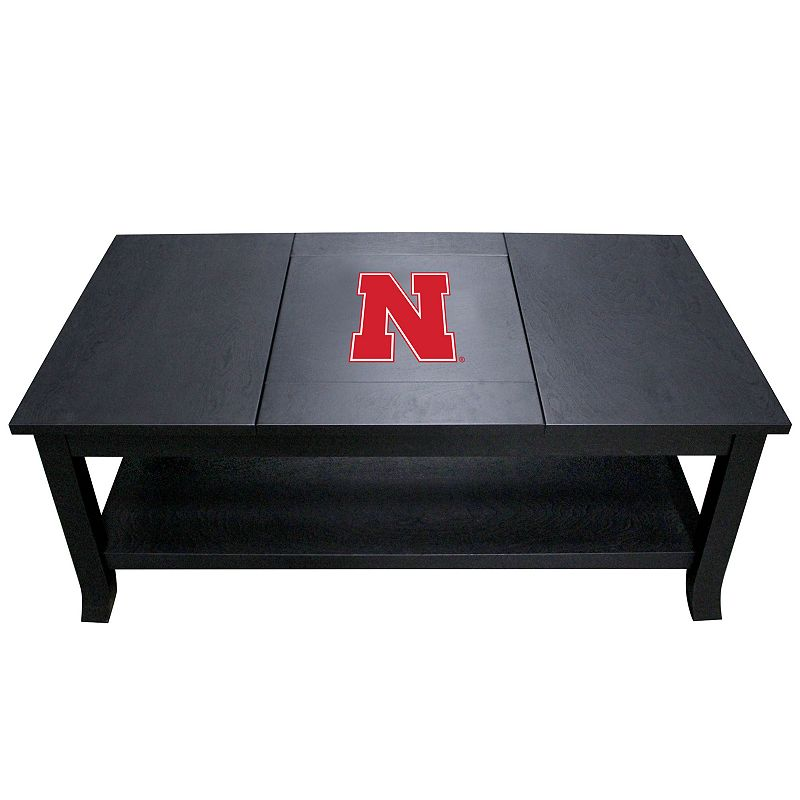 Nebraska Cornhuskers Coffee Table, Black