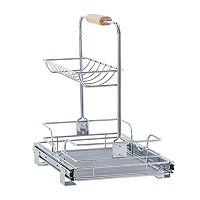 Household Essentials Glidez Under Sink 1.5-Tier 11.5-inch Wide Caddy Sliding Organizer