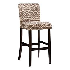 Linon Ikat Coconut Bar Stool