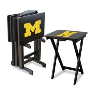Michigan Wolverines TV Trays with Stand