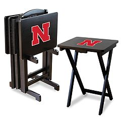 Nebraska Cornhuskers TV Trays with Stand
