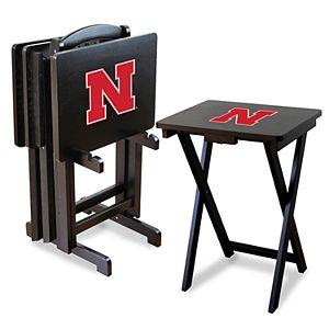 Nebraska Cornhuskers TV Trays with Stand