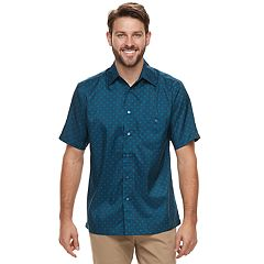 Men's Haggar Classic-Fit Microfiber Button-Down Shirt
