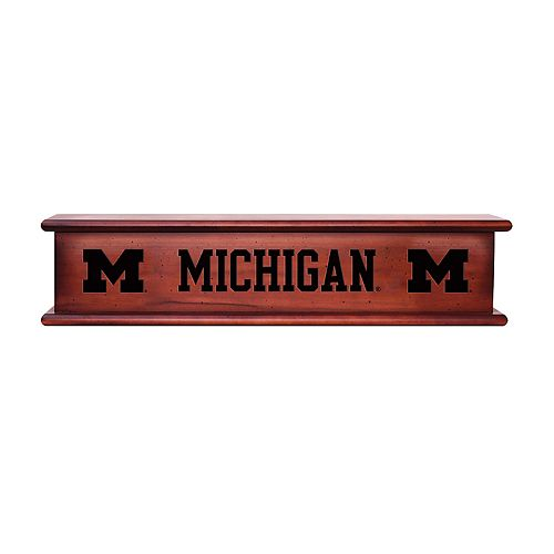 Michigan Wolverines Memorabilia Shelf
