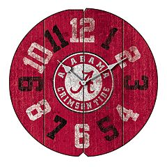 Alabama Crimson Tide Round Clock