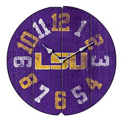 LSU Tigers Round Clock