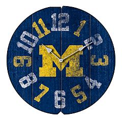 Michigan Wolverines Round Clock