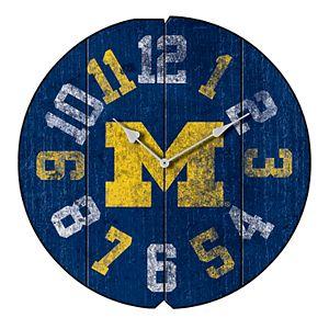 Michigan Wolverines Round Clock