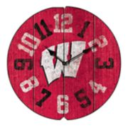 Wisconsin Badgers Round Clock