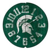 Michigan State Spartans Round Clock
