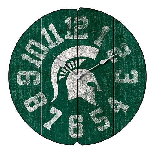 Michigan State Spartans Round Clock