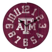 Texas A&M Aggies Round Clock
