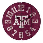 Texas A&M Aggies Round Clock