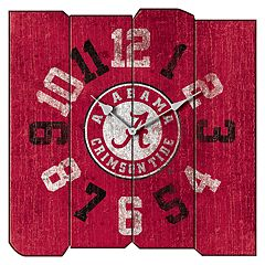 Alabama Crimson Tide Square Clock