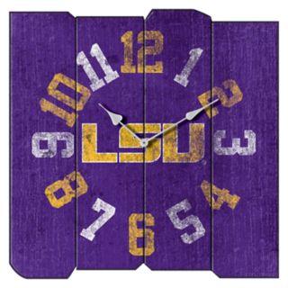 LSU Tigers Square Clock