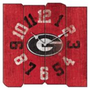 Georgia Bulldogs Square Clock