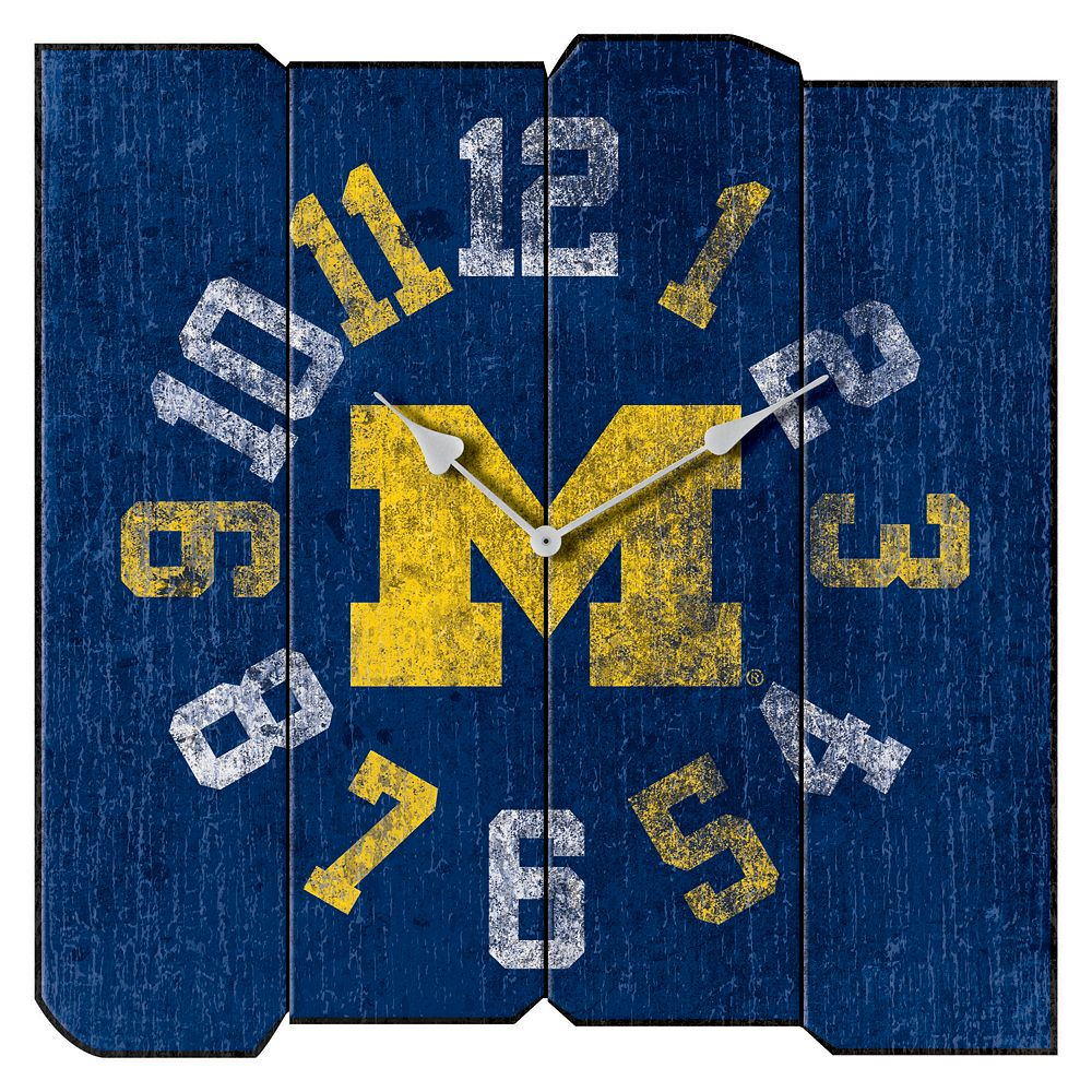 Michigan Wolverines Square Clock