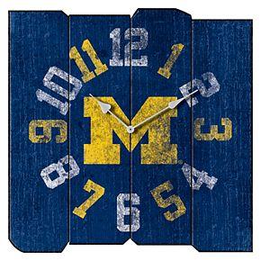 Michigan Wolverines Square Clock