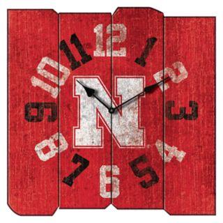 Nebraska Cornhuskers Square Clock