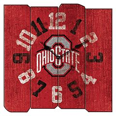 Ohio State Buckeyes Square Clock
