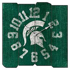 Michigan State Spartans Square Clock