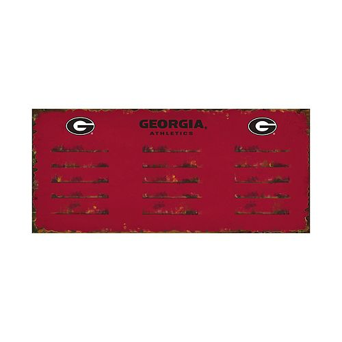 Georgia Bulldogs 3-Hook Metal Coat Rack