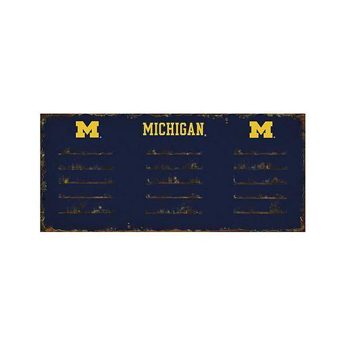 Michigan Wolverines 3-Hook Metal Coat Rack