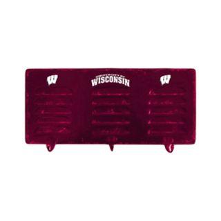 Wisconsin Badgers 3-Hook Metal Coat Rack