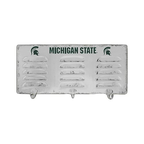 Michigan State Spartans 3-Hook Metal Coat Rack