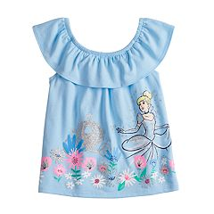 Disney's Cinderella Toddler Girl Glittery Graphic Tank Top